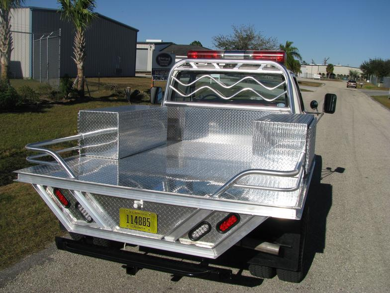 Diamond Plate tool boxes truck bed and headache racks for Charlotte Co. Fire Dept & Misc - Pics
