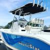 Customized T-top and Sunbrella canvas for new Nautic Star for Big Toy Boat & Storage